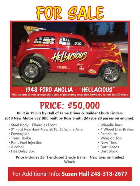 Historic gasser HELLACIOUS  for Sale $50,000
