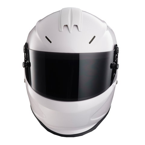 SALE Flat Black & White Snell 2015 Auto Racing Helmets -  for Sale $199