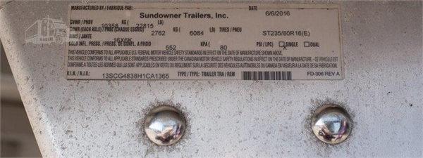2017 SUNDOWNER 48'  for Sale $19,999