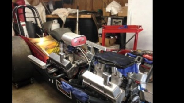 Twin Front Engine Dragster