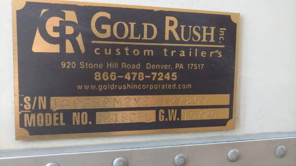 2002 GoldRush Enclosed  for Sale $43,000
