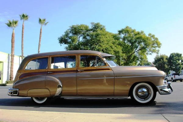 1950 Chevrolet Styleline Deluxe Tin Woody  for Sale $42,500
