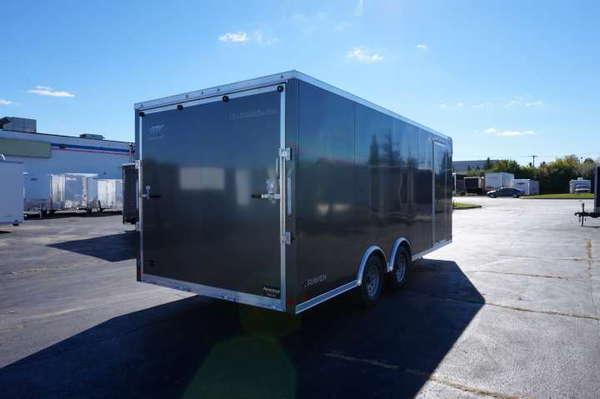 Medium Charcoal 8.5' x 20' Enclosed Car Hauler