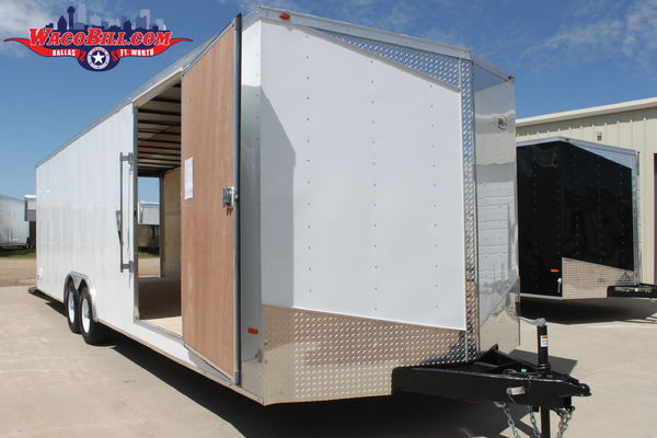 28' X-Height Slope-Nosed Wedge Race Trailer Dallas-Ft. Worth