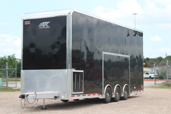 2021 ATC QUEST 28' TWO CAR STACKER WITH LIFT, WINCH, AWNING,