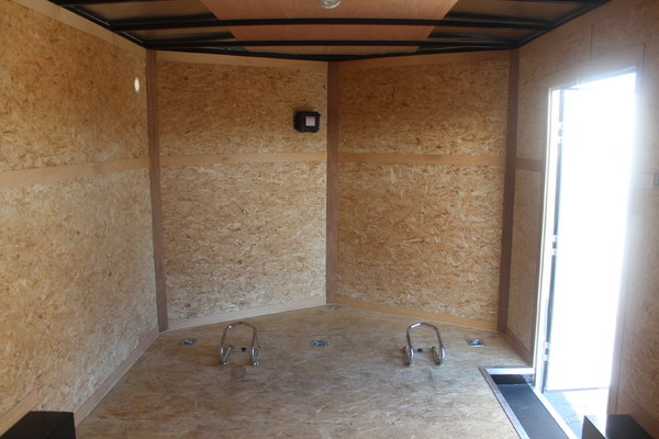 Pre-Owned 8.5' x 14' Motorcycle Trailer PERFECT CONDITION