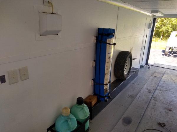 Enclosed 28' car trailer