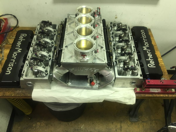 Complete top end for 5.3 nitrous pro mod** 3 Cylinder heads  for Sale $24,500