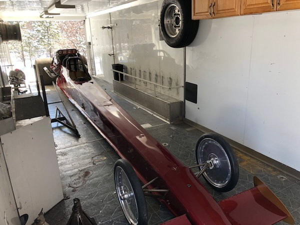 Top Alcohol Dragster with Gold Rush Trailer  for Sale $30,000