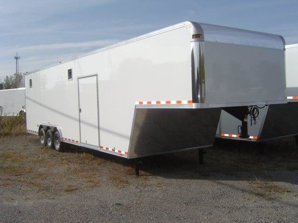 RACE READY - Vintage 40' Race Car Trailer - 7'6