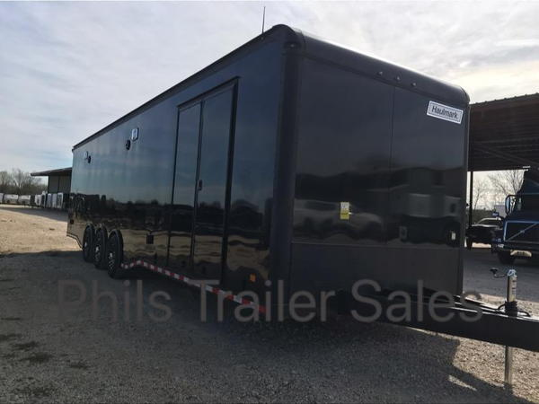 34' HAULMARK EDGE PRO RACE TRAILER BLACKOUT  WITH NEW   for Sale $26,500