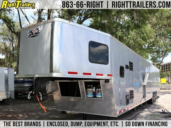 Pro Grade - 2021 Vintage 50' Living Quarters Trailer - Full