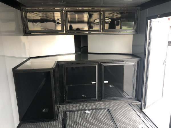 2019 Rock Solid Cargo 28 Race Trailer Midnight Edition Car /
