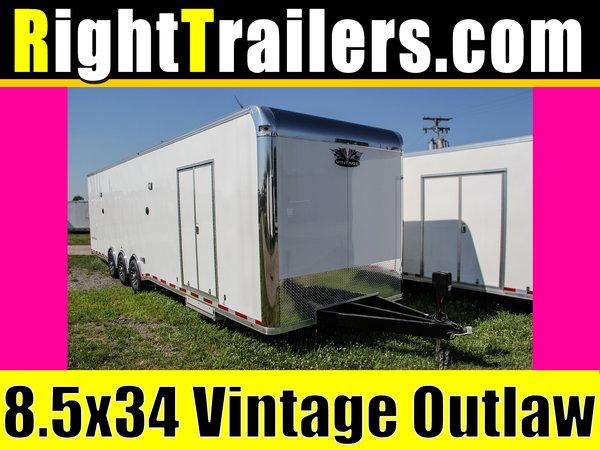 8.5x34 Vintage Outlaw | Race Car Trailer