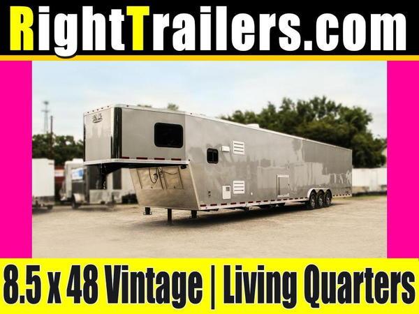 8.5x48 Vintage Outlaw   Living Quarter Trailer