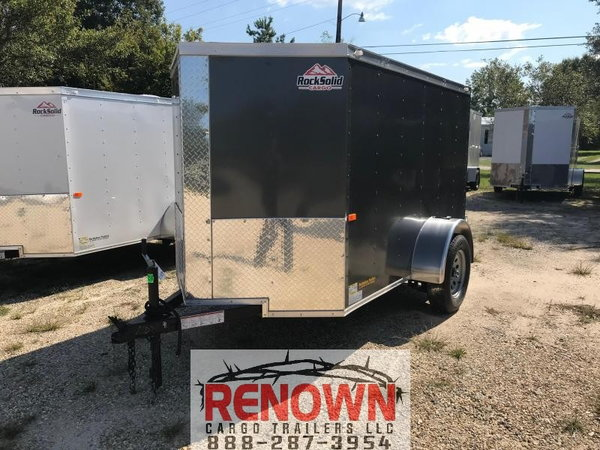 👉 NEW 5X8 Single Axle Enclosed Cargo trailer  for Sale $3,625