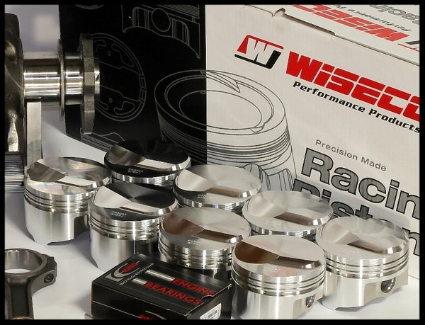 BBC CHEVY 632 MERLIN SHORT BLOCK FORGED PISTONS -7.5cc DISH  for Sale $4,750
