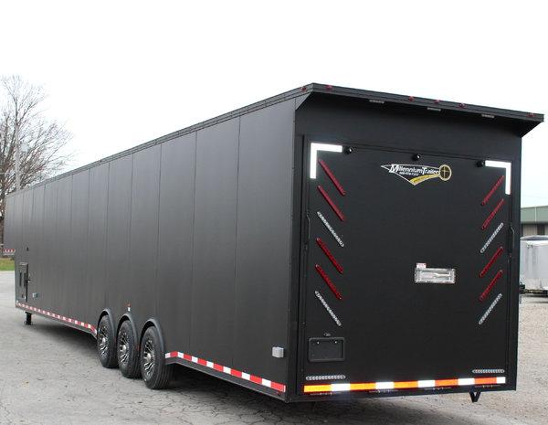 Matte Black w/Black Out Package Race Car Trailer