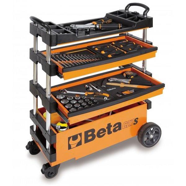 BETA TOOLS C27S-O FOLDING TOOL TROLLEY ORANGE - 027000201  for Sale $599
