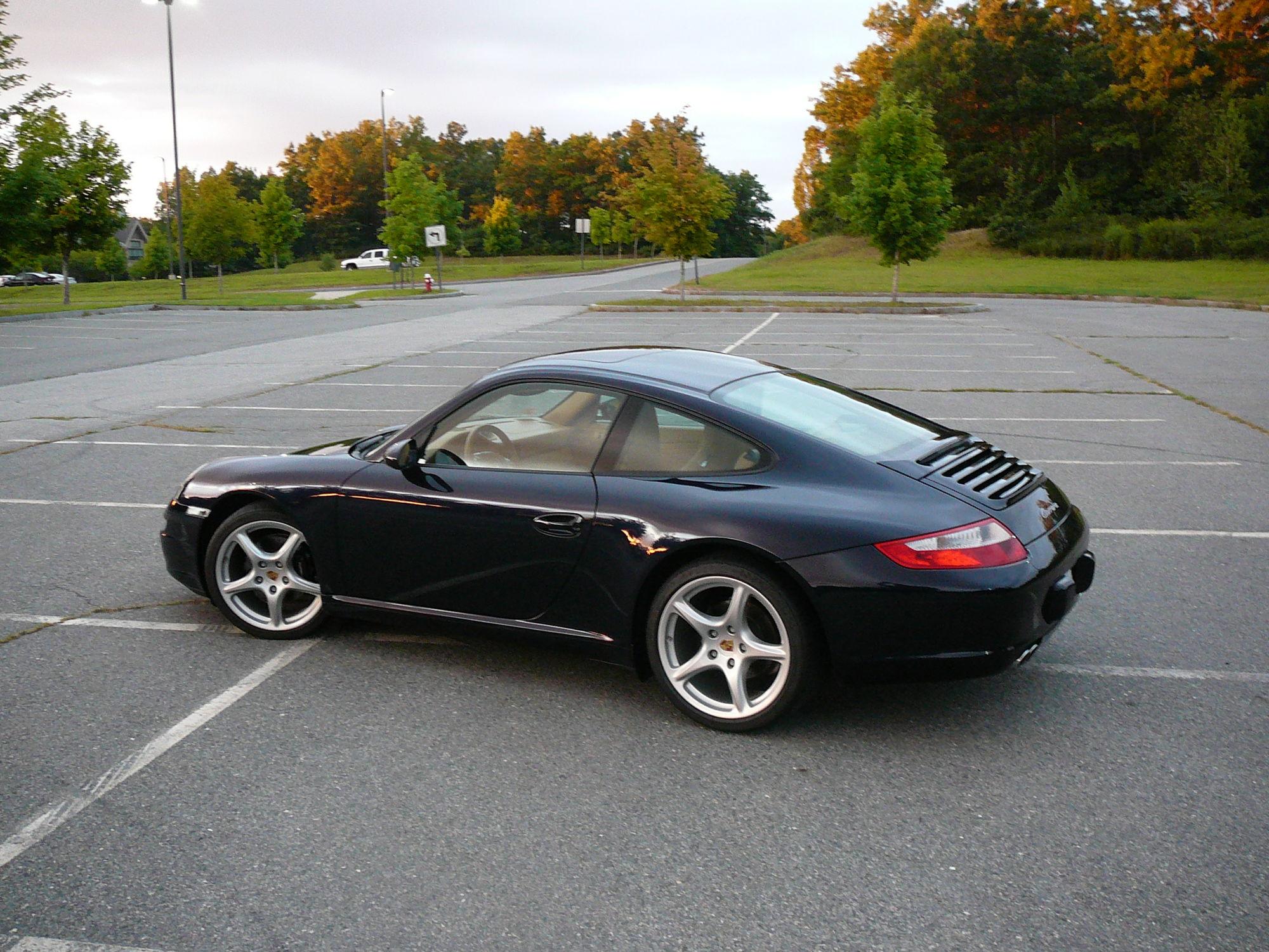 2007 porsche 911 coupe midnight blue metallic