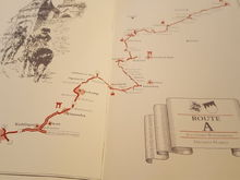 The route noted in the book