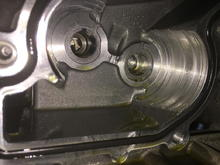 Dammage to the oil pump cassette. Was running full flow filtration.