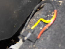 Drivers Side Rear hatch release wires.