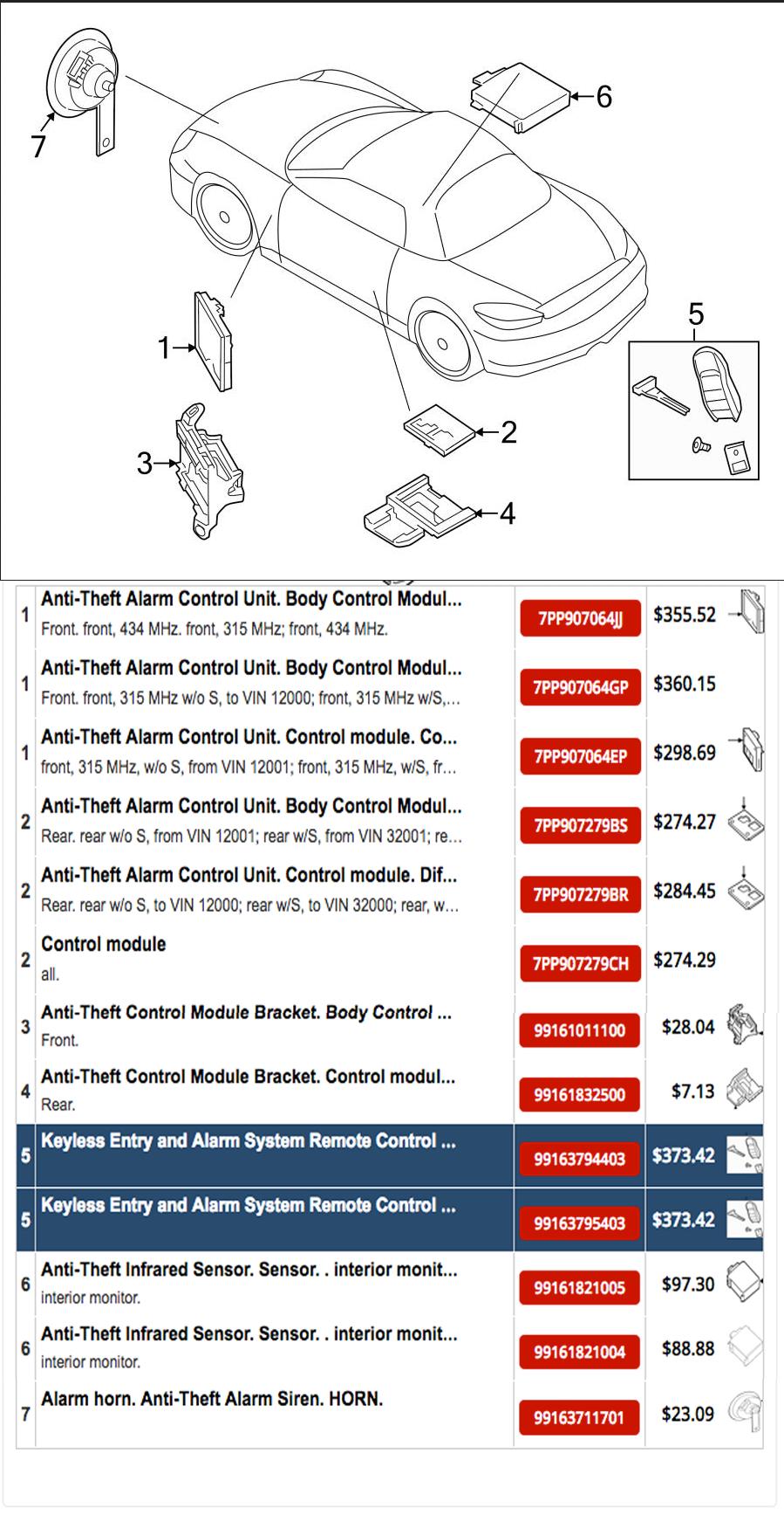 Need 05 To 12 Alarm Wiring Diagram - Rennlist