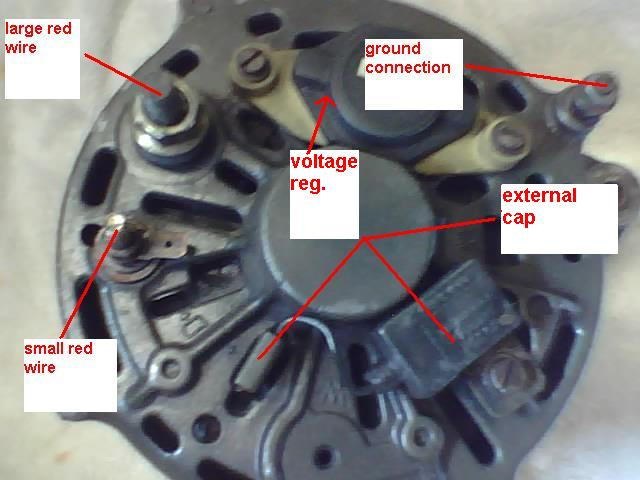 1987 240 alternator not charging - exciter wire? - Volvo Forums - Volvo  Enthusiasts Forum | Volvo Alternator Wiring Connectors |  | Volvo Forums