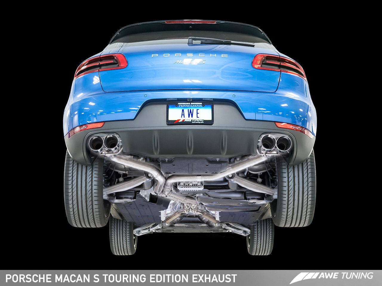 introducing the awe tuning porsche macan exhaust suite. Black Bedroom Furniture Sets. Home Design Ideas