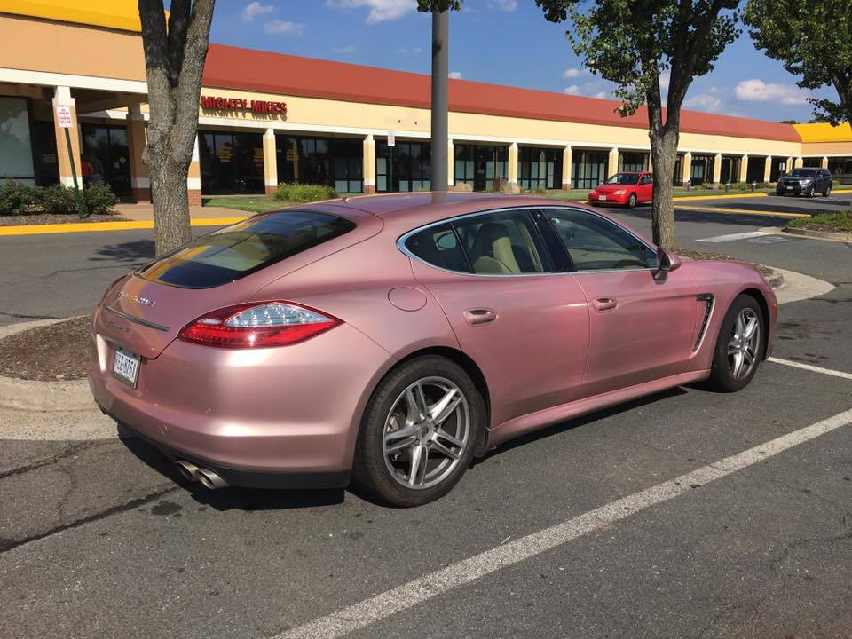 Chris Ellefson Spotted This Pink Porsche Panamera In Virginia