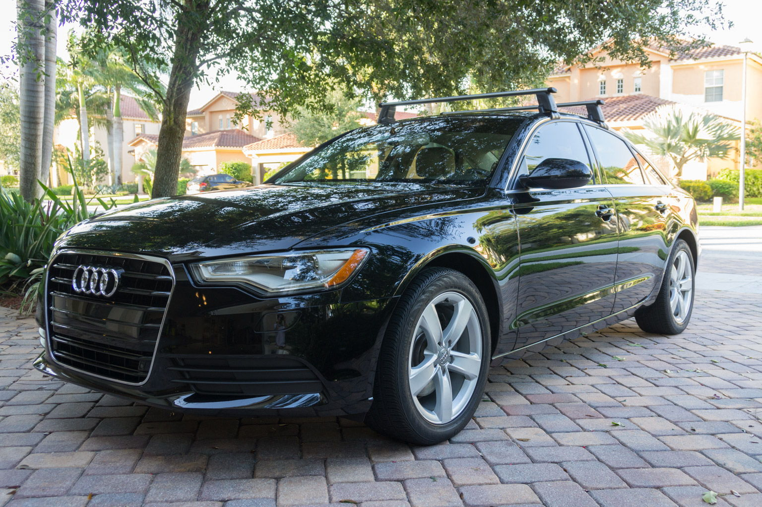 I Also Got The OEM Audi Roof Rack. They Fit Into The Holes Under The Roof  Rails In The Door Jambs And Are Very Easy To Install.