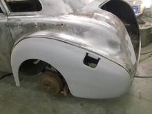 Test fit left rear fender