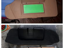 I experimented with dyeing the visors to match the new suede headliner before ordering new ones for a couple of hundred bucks, I am very happy with the results personally.