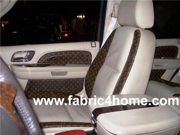 Toyota camry picture by fabric4home 7756535 camry forums Louis vuitton fabric for car interior