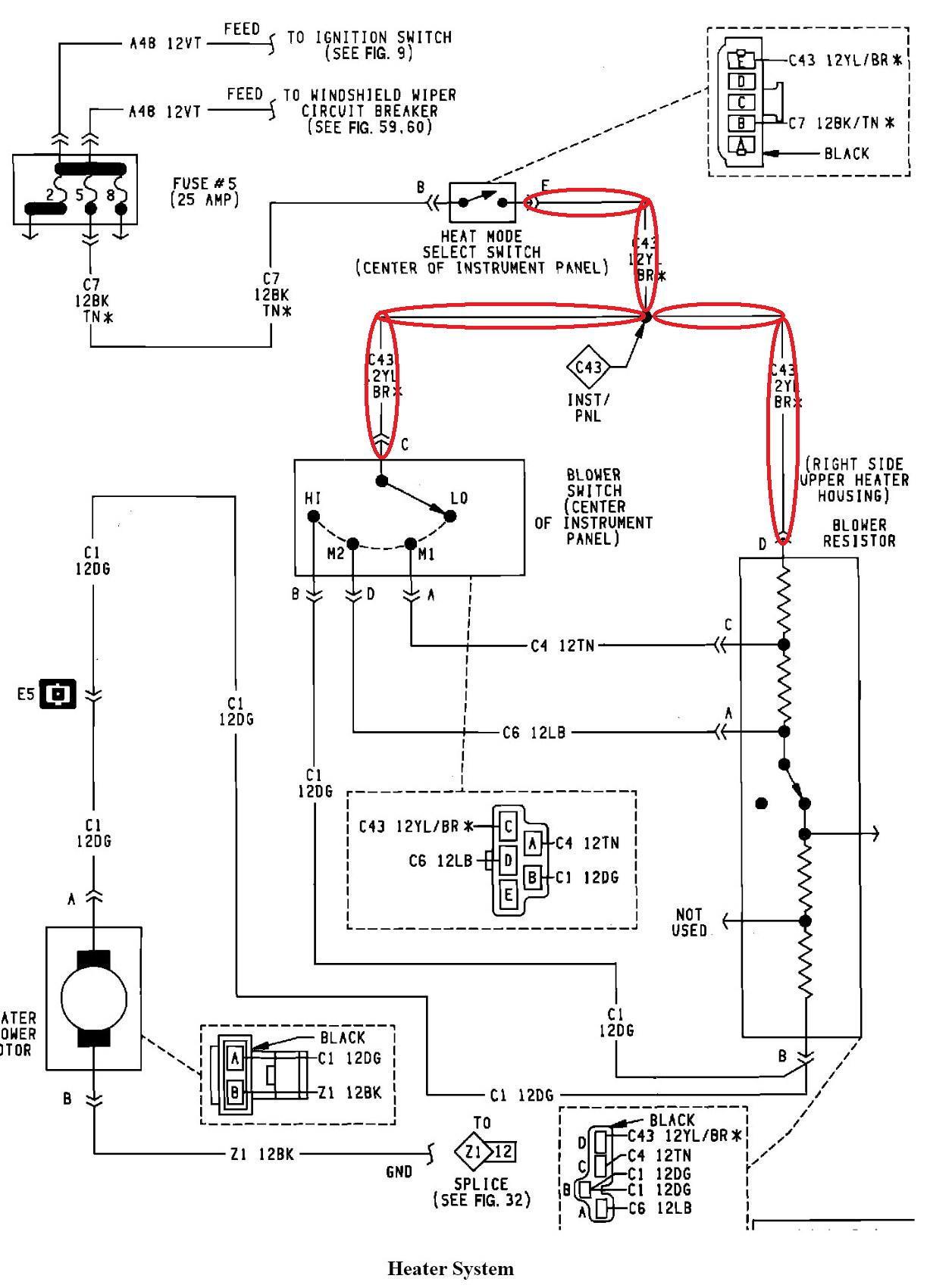 94 Jeep Cherokee Heater Diagram Wiring Diagram Regional Regional Frankmotors Es
