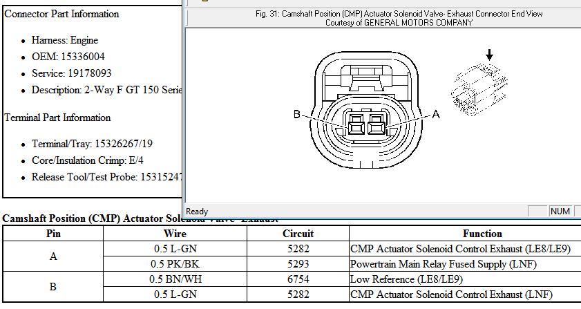 camshaft position (cmp) actuator solenoid