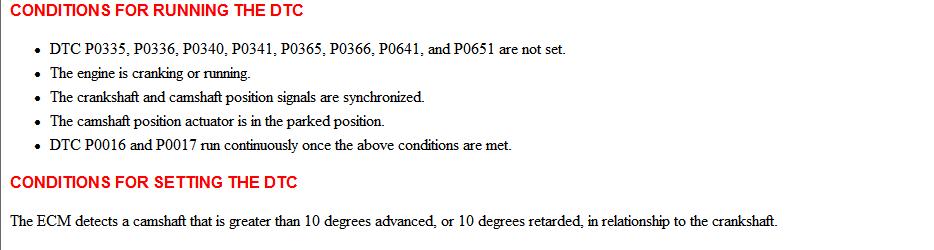 Gm Codes P0016 P0017