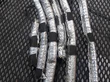 Tin foil wrapped heat shields around the starter to alternator, knock sensors, starter wire, crank sensor.