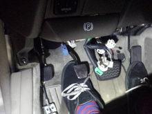 Kids feet!...lol    He is 23 not a kid anymore...lol He's waitin to wheel it...lol