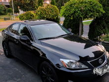 Lexus IS250 .... Just got the baby and fell in love with/ Lexus... Came from VW & Honda....