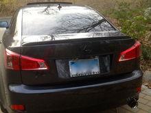 F sport exhaust, Emblem painted