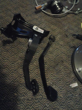Sc300 clutch pedal assembly and brake pedal