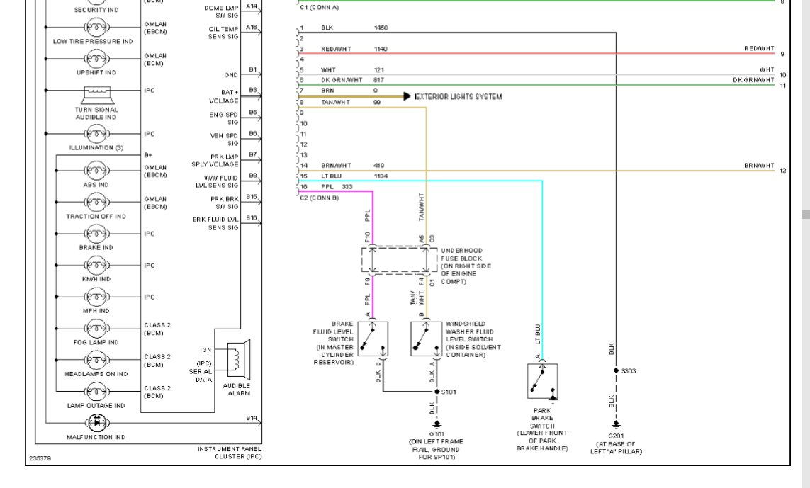 park brake wiring diagram - corvetteforum