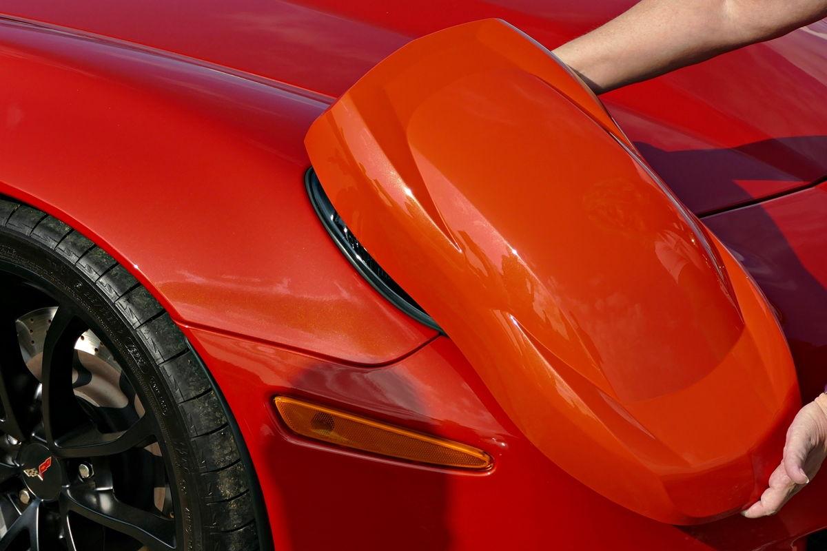 Corvette stingray 2018 orange