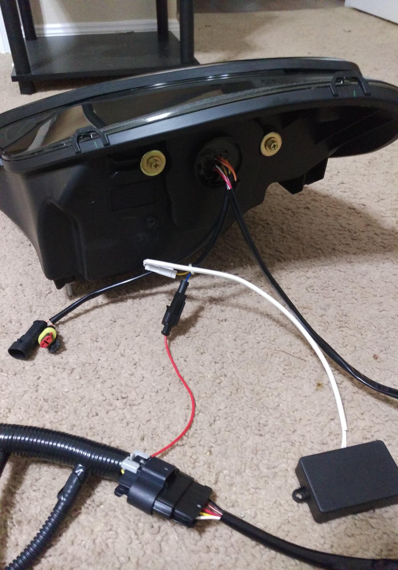 c6 bi led headlights with radioflyer harness testing. Black Bedroom Furniture Sets. Home Design Ideas