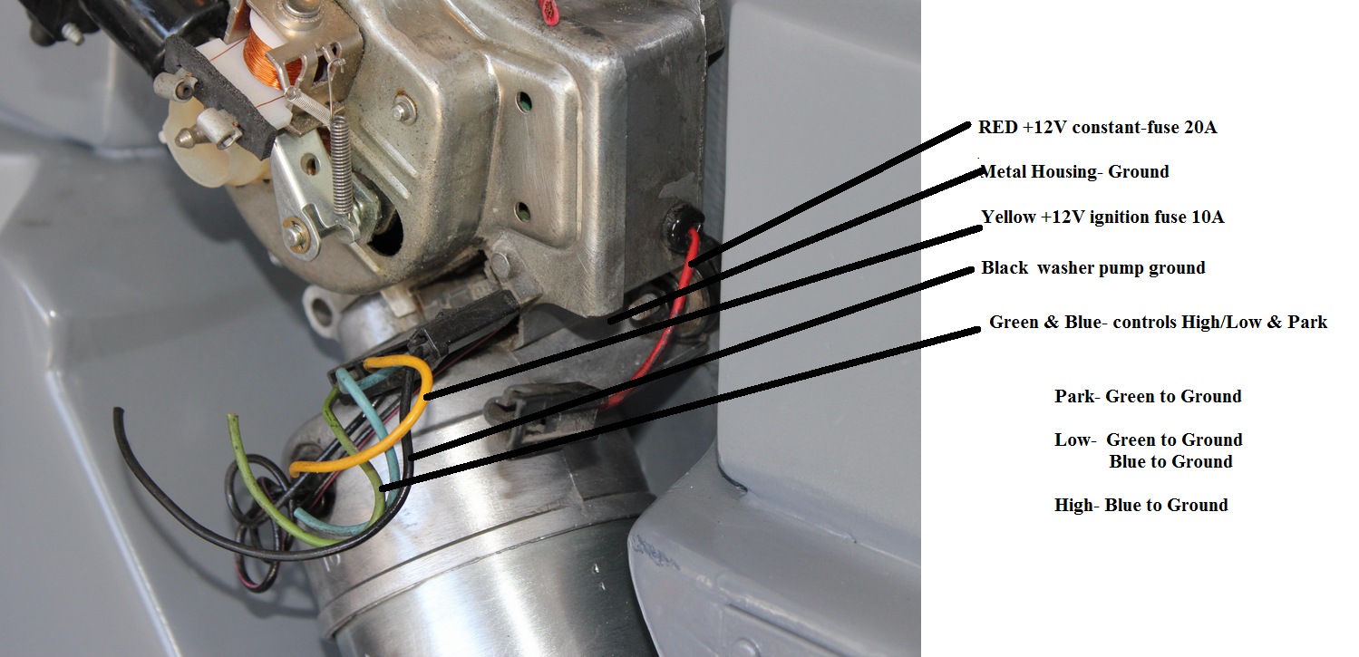 Wire From Windshield Wiper Washer Motor Check This Wiring Diagram