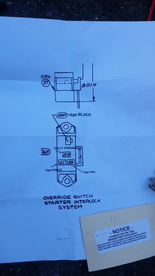 74 chevy small block wiring diagram 74 engine wire harness  where is starter override connection  74 engine wire harness  where is