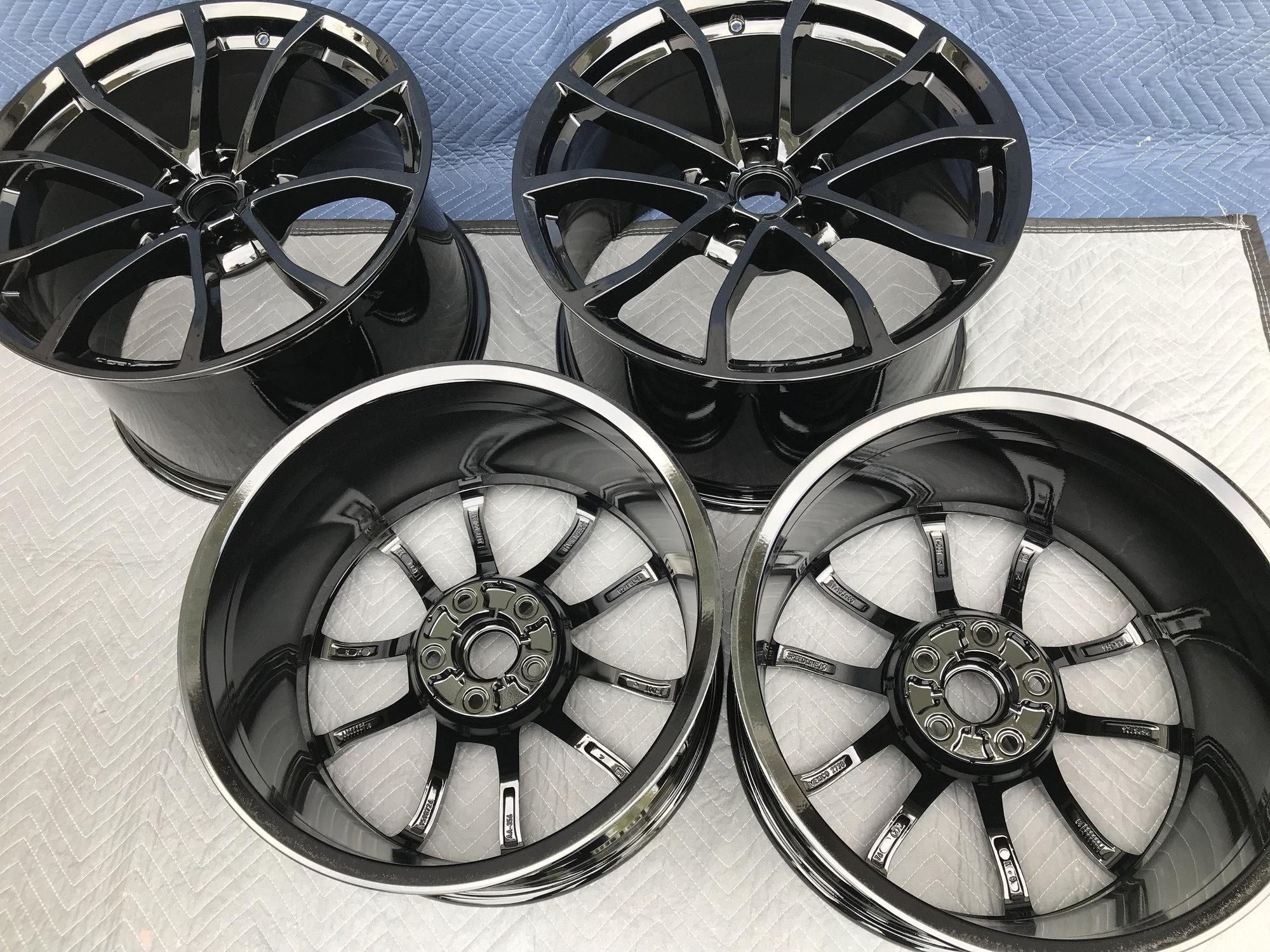 Gloss Black Powder Coat Cup Wheels