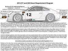 CTSCC Decal Diagram for Rule Book Black & White version